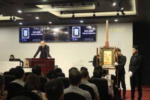 Bức tranh 'Sắc hoa' của danh họa Lê Phổ bán đấu giá được 27.000 USD