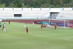 Thầy trò HLV Đinh Thế Nam có chiến thắng đầu tiên tại VCK U15 Đông Nam Á