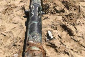 Thông tin mới nhất về khẩu súng thần công phát hiện tại Đà Nẵng