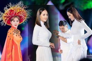 Mai Phương Thúy khoe số đo vàng trong tà áo dài trắng, Nam Em hóa 'công chúa thủy tề' với mấn san hô