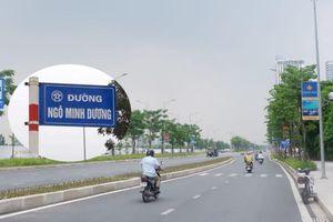 Hà Nội bất ngờ tháo gỡ biển tên đường Ngô Minh Dương