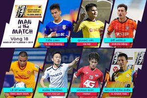 Vòng 18 V.League: Những siêu phẩm của Xuân Trường, Sỹ Minh