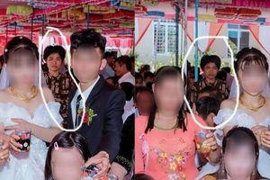 Dân mạng ám ảnh với 'thánh nữ chụp ké' ở đám cưới: Thoắt ẩn thoắt hiện, luôn tìm cách ghé mặt vào mọi khung hình