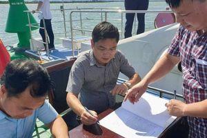 Tìm lại phao đường thủy bị mất, trôi dạt sang Trung Quốc