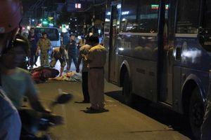 Hiện trường vụ nam thanh niên bị cán tử vong khi va chạm với xe buýt chạy cùng chiều