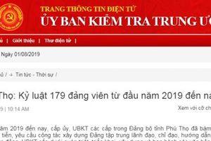 Phú Thọ: Hàng chục đảng viên bị kỷ luật cảnh cáo, cách chức