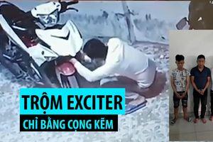 Cận cảnh thủ đoạn của băng nhóm chuyên trộm Exciter chỉ bằng cọng kẽm