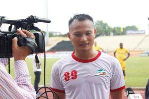 Tuyển thủ Nguyễn Trọng Hoàng: 'Ghi bàn vào lưới SLNA là điều rất khó'