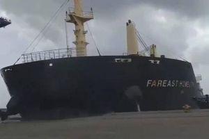 Đình chỉ 1 hoa tiêu Vũng Tàu vụ tàu Hồng Kông đâm vào cảng SSIT và sà lan