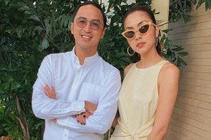 Tăng Thanh Hà và chồng tình tứ dự tiệc cưới