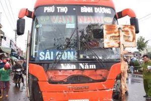 Gia Lai: Xe khách mất lái lao vào chợ, 4 người tử vong