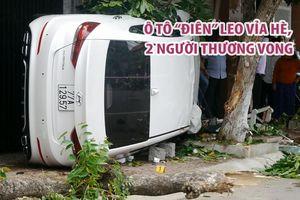Ô tô 'điên' leo vỉa hè ở TP.Quy Nhơn làm 2 người thương vong