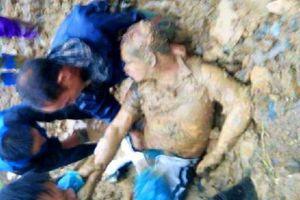 Cứu hộ sạt lở đất, một trưởng công an xã ở Thanh Hóa bị vùi lấp