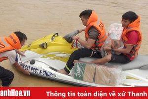 Đã tiếp cận được bản Sa Ná, xã Na Mèo (Quan Sơn) sau hơn 1 ngày bị cô lập