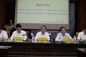 Xác định 'thủ phạm' gây nên sự cố chạy thận tại Nghệ An