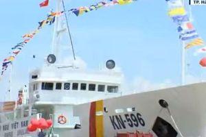 Hình ảnh hai tàu kiểm ngư cỡ lớn vừa được bàn giao cho Cục kiểm ngư Việt Nam