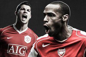 Ronaldo về nhì ở top 10 cầu thủ vĩ đại nhất lịch sử Premier League