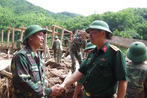 Đoàn công tác Bộ Quốc phòng kiểm tra công tác khắc phục hậu quả sau mưa lũ tại Thanh Hóa