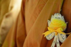 Tại sao các vị tu sĩ lại cài bông hồng vàng trong ngày lễ Vu Lan?