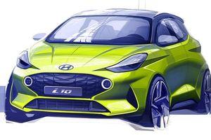 Hyundai hé lộ phác thảo thiết kế Grand i10 thế hệ mới