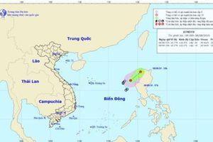 Vùng nguy hiểm do áp thấp nhiệt đới trên Biển Đông gió giật cấp 8