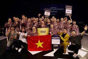 Nhóm nhảy Việt Nam LYRICIST trở thành quán quân cuộc thi dance đình đám Đông Nam Á