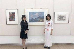 Tranh của học sinh Việt Nam được trưng bày tại Bảo tàng Mỹ thuật Quốc gia Nhật Bản