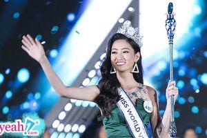 Nhan sắc Tân hoa hậu Miss World Việt Nam Lương Thùy Linh nhận cơn mưa lời khen trên trang chủ Miss World