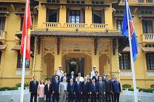 Lễ thượng cờ kỷ niệm 52 năm thành lập ASEAN