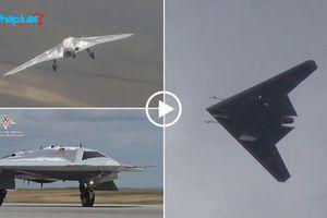 Máy bay tàng hình Okhotnik của Nga bay lượn trên bầu trời