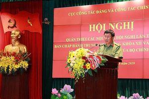 Cán bộ, chiến sỹ CAND học tập Nghị quyết Trung ương 10 khóa XII
