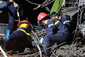 Hiện trường đổ nát vụ sập giàn giáo khiến 8 người thương vong ở Hải Phòng