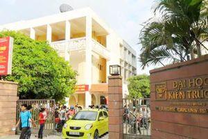 Điểm chuẩn trường Đại học Kiến trúc Hà Nội năm 2019: Cao nhất lên tới 26,5 điểm