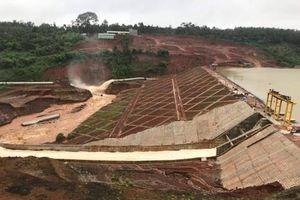 Cận cảnh đập thủy điện Đăk Kar nguy cơ vỡ, hàng nghìn người phải sơ tán