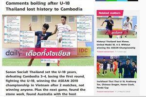 U18 Thái Lan gây sốc vì thất thủ trước Campuchia, xuống đứng cuối bảng 'tử thần'