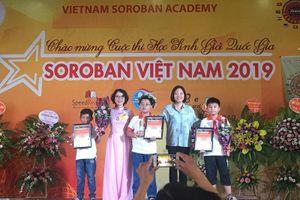 Gần 400 học sinh tham gia thi Soroban quốc gia 2019