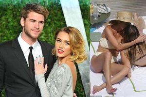 Vừa tuyên bố chia tay chồng, Miley Cyrus bị bắt gặp ôm hôn 'gái lạ'