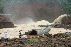Mở được van xả tràn, đập thủy điện ở Đắk Nông thoát nguy cơ vỡ