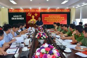 Đoàn kiểm tra Bộ Chính trị làm việc tại Nghệ An về tinh giản biên chế