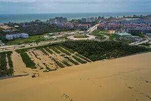 Bãi Trường Phú Quốc nhìn từ trên cao: Nước không thể thoát ra biển