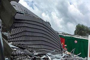 Làm rõ nguyên nhân vụ sập mái hội trường UBND thị trấn Ngã Sáu