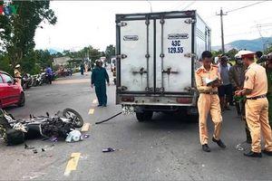Ô tô tải va chạm với xe máy, 1 phụ nữ tử vong tại chỗ
