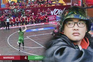 'Siêu phẩm' Rapper Phương Kào đã trình làng sau cú ném 3 đầu tiên của Cantho Catfish trước Thang Long Warriors