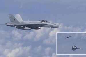 Chiến cơ F-18 bị Su-27 rượt đuổi vì áp sát máy bay chở Bộ trưởng Quốc phòng Nga