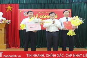 Bộ Tư pháp bổ nhiệm Cục trưởng Cục Thi hành án dân sự Hà Tĩnh