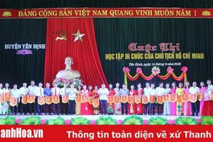 Huyện Yên Định tổ chức Chung kết Cuộc thi 'Học tập Di chúc của Chủ tịch Hồ Chí Minh'