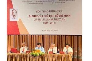 Di chúc của Chủ tịch Hồ Chí Minh: Một giá trị trường tồn �