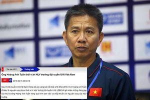 VFF cho HLV Hoàng Anh Tuấn từ chức