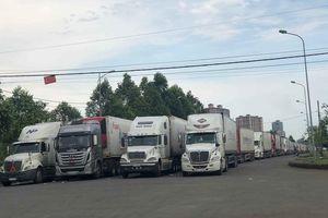 Trung Quốc dùng máy soi hàng, hàng trăm xe container Thanh Long ùn ứ ở cửa khẩu