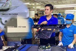 Asanzo: 'Quy trình sản xuất không hề có quy định phải bóc tem xuất xứ trên các linh kiện'